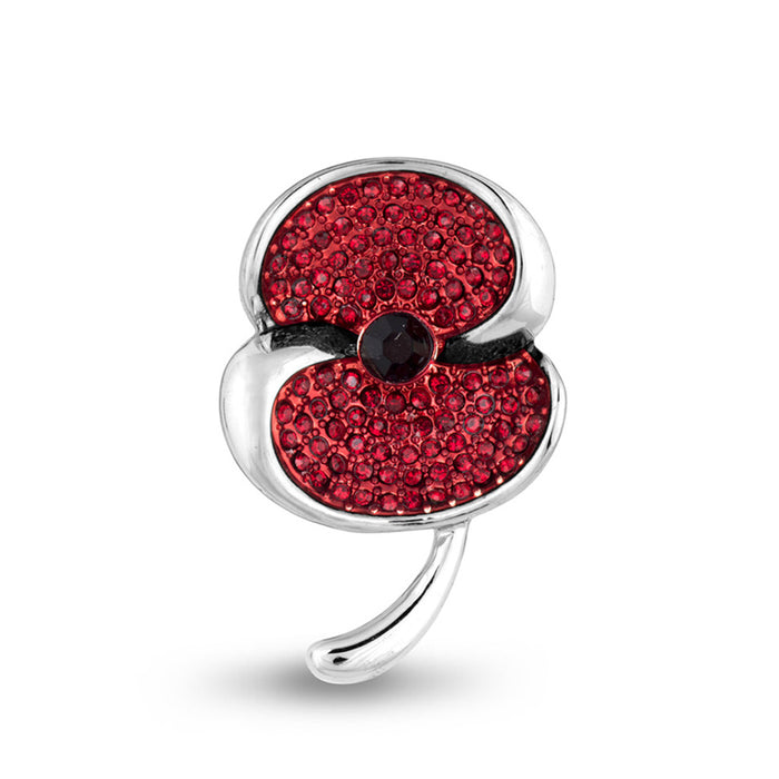The Poppy Collection ® Swirl Brooch Silver Tone