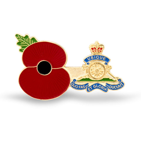 Service Poppy Pin Royal Artillery