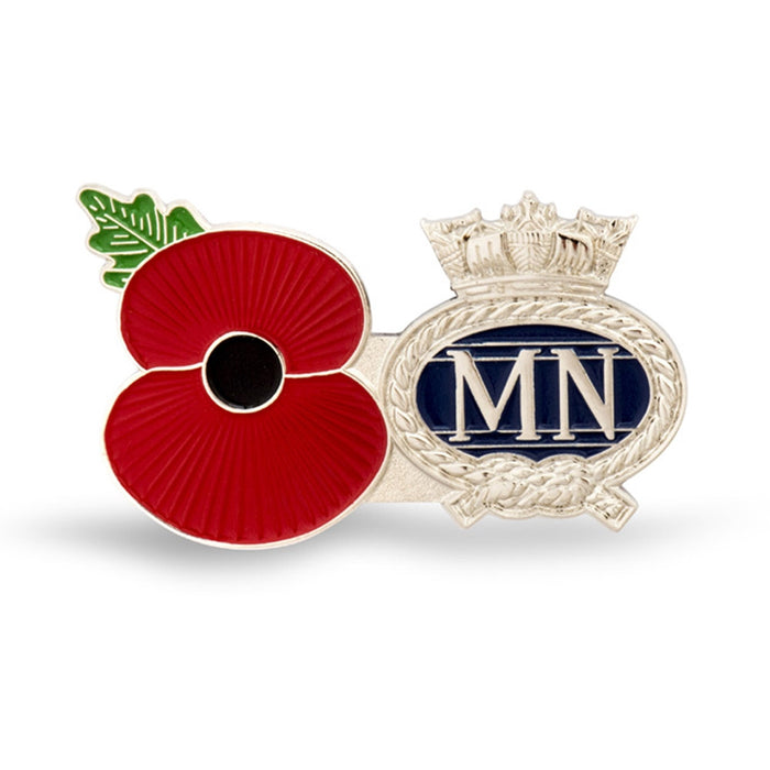Service Poppy Pin Merchant Navy