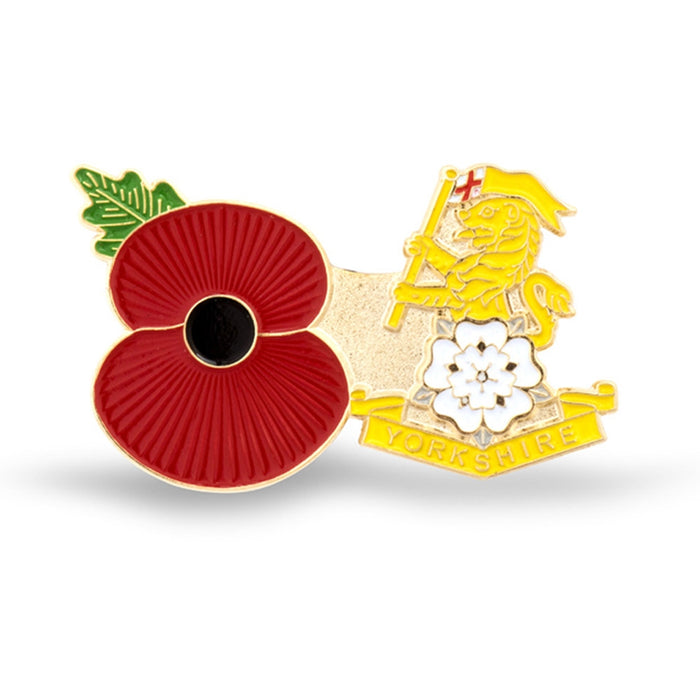 Service Poppy Pin Yorkshire Regt