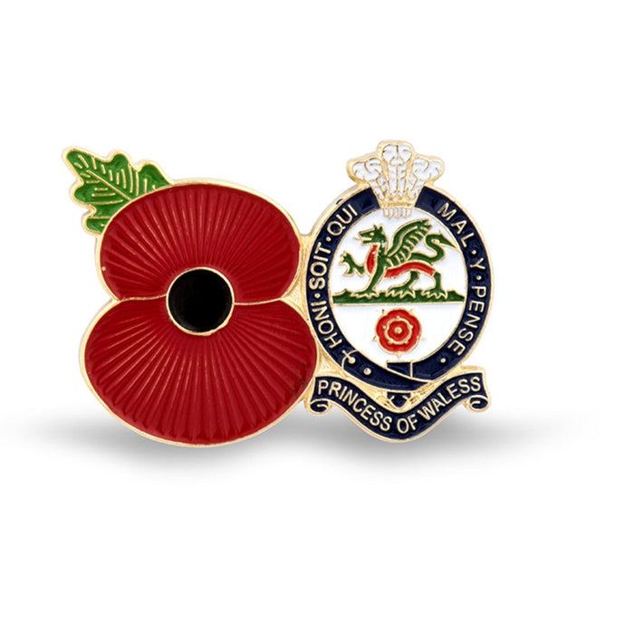 Service Poppy Pin Princess of Wales's Royal Regiment