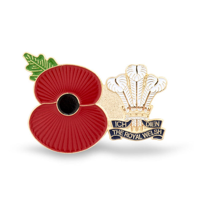 Service Poppy Pin Royal Welsh