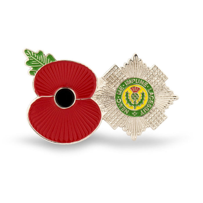 Service Poppy Pin Scots Guards