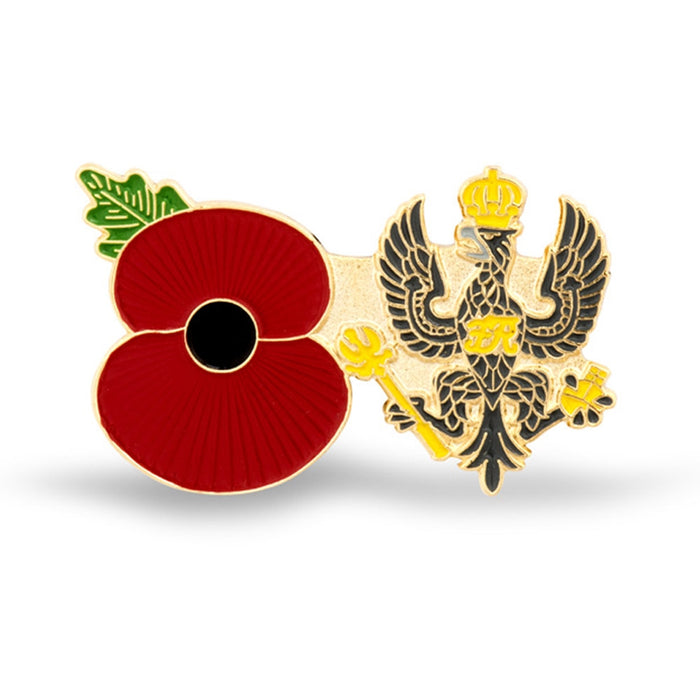 Service Poppy Pin Kings Royal Hussars