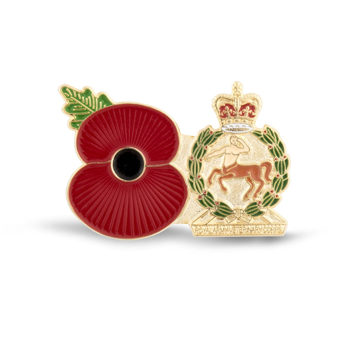 Service Poppy Pin Royal Army Veterinary Corps