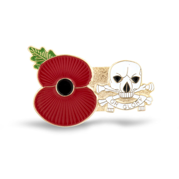 Service Poppy Pin 17/21st Lancers (Or Glory)