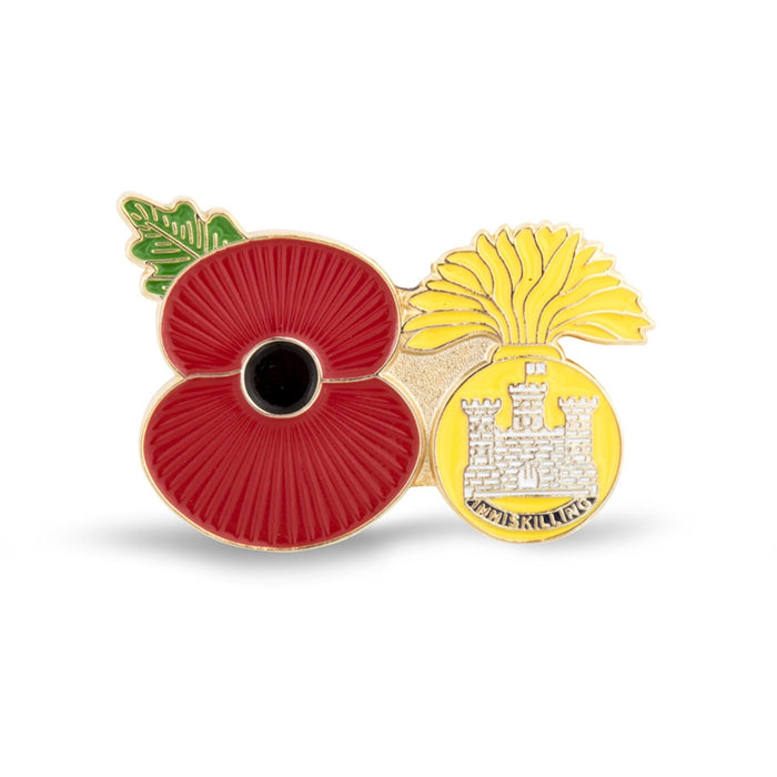 Service Poppy Pin Royal Inniskilling Fusilers
