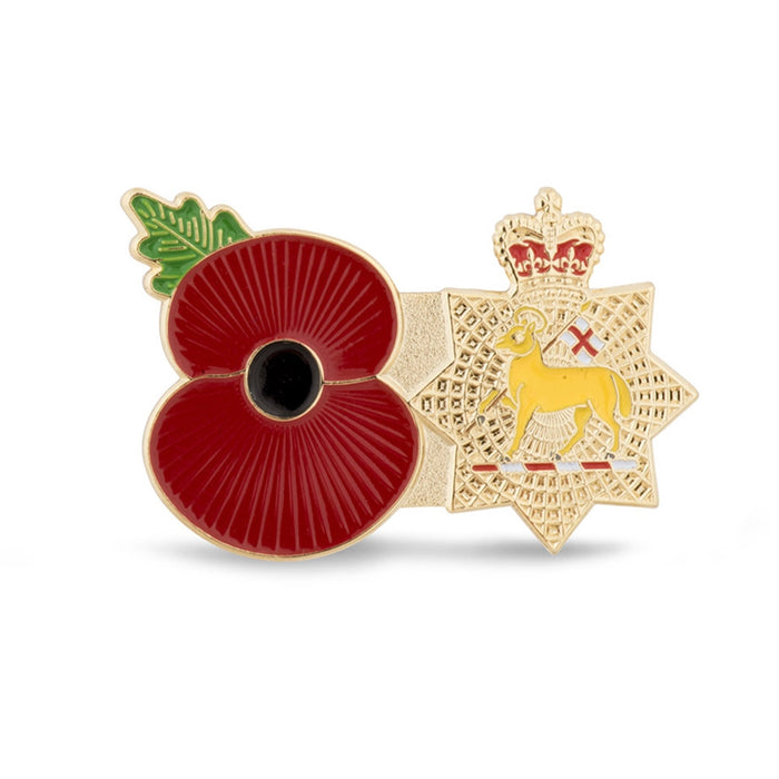 Service Poppy Pin The Queen's Royal Surrey Regiment
