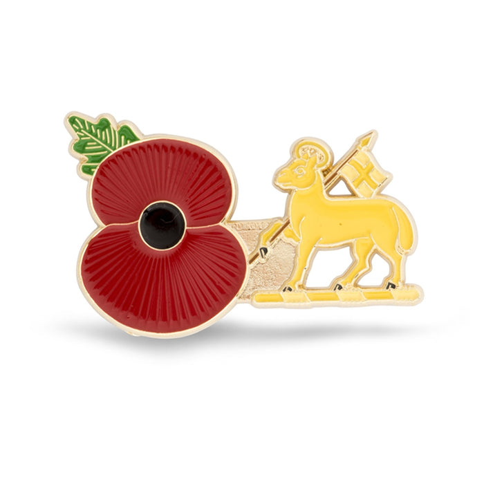 Service Poppy Pin The Queen's Royal Regiment