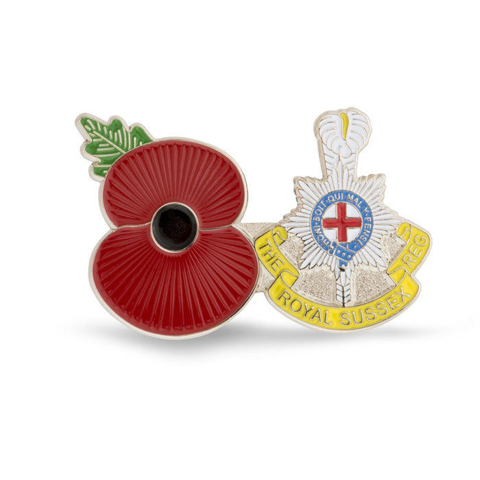 Service Poppy Pin The Royal Sussex Regiment