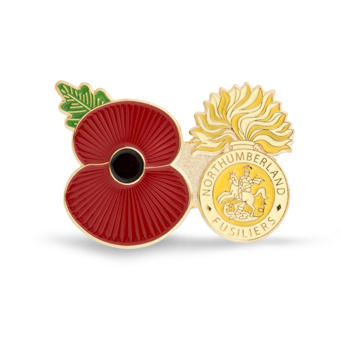 Service Poppy Pin The Northumberland Fusiliers