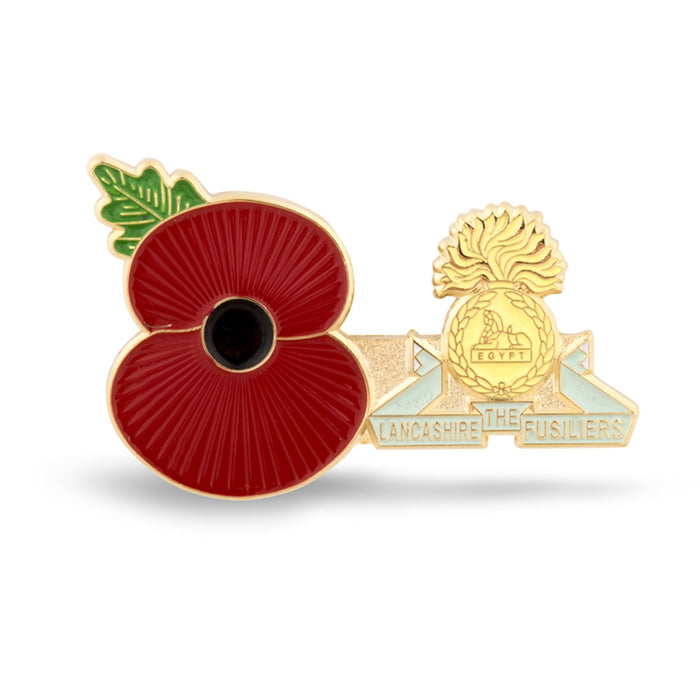 Service Poppy Pin The Lancashire Fusiliers