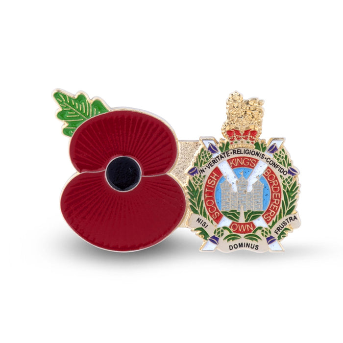 Service Poppy Pin Kings Own Scottish Borderers