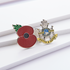 Service Poppy Pin Sherwood Foresters