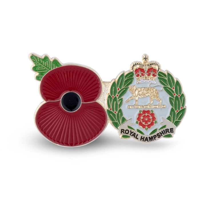 Service Poppy Pin Hampshire Regiment