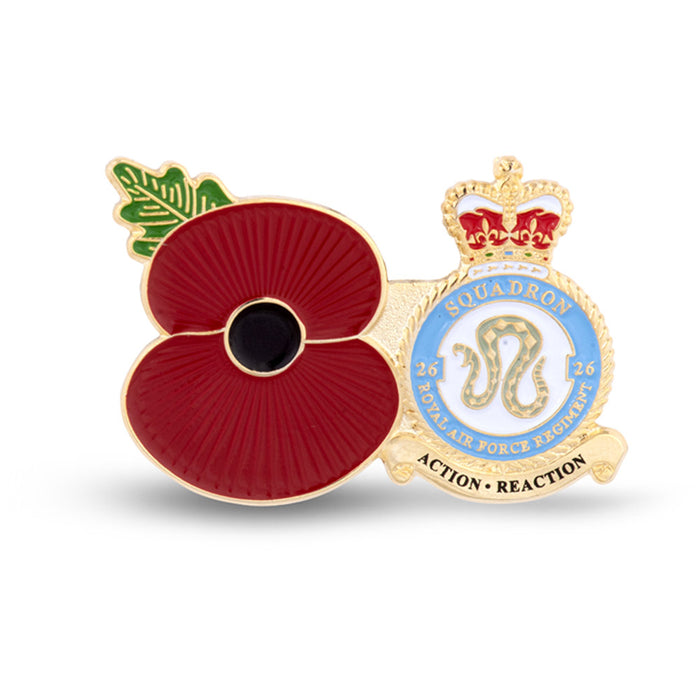 Service Poppy Pin 26 SQUADRON RAF REGIMENT