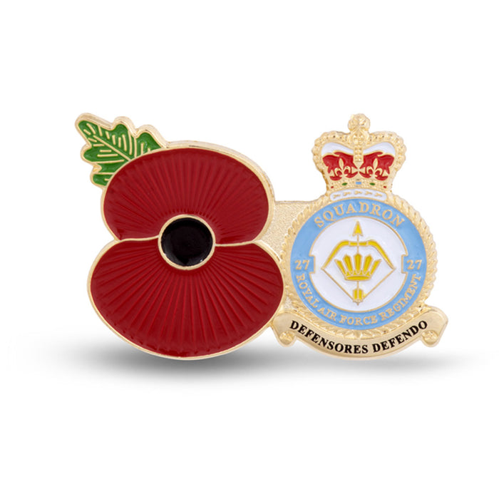 Service Poppy Pin 27 SQUADRON RAF REGIMENT
