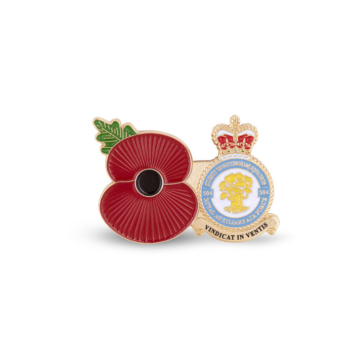 Service Poppy Pin 504 SQUADRON RAUXAF