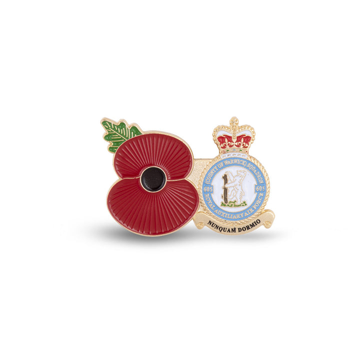 Service Poppy Pin 605 SQUADRON RAUXAF