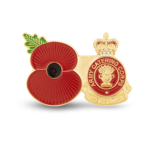 Service Poppy Pin Army Catering Corps