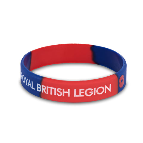 GLOW in the dark Kids Royal British Legion Wrist Band