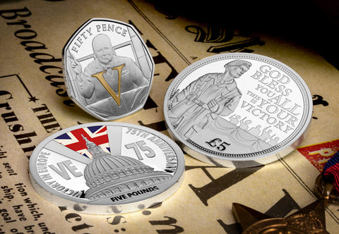 VE Day 75 Set of 3 Commemorative Silver Coins