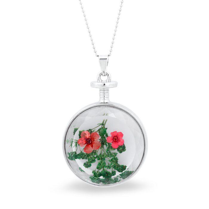 Pressed Flowers Pendant