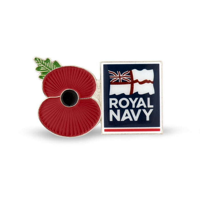 Service Poppy Pin Royal Navy