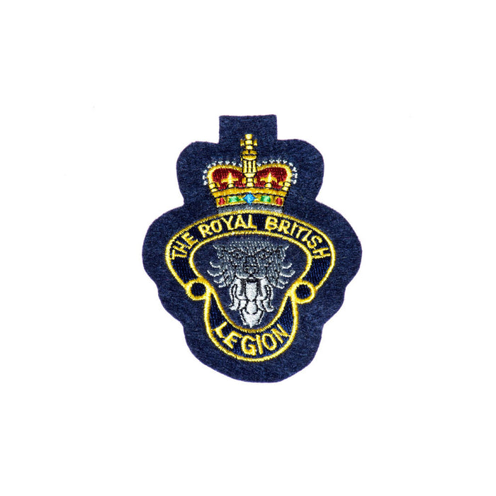 MEMBERS Silk Embroidered RBL Badge Blue Background