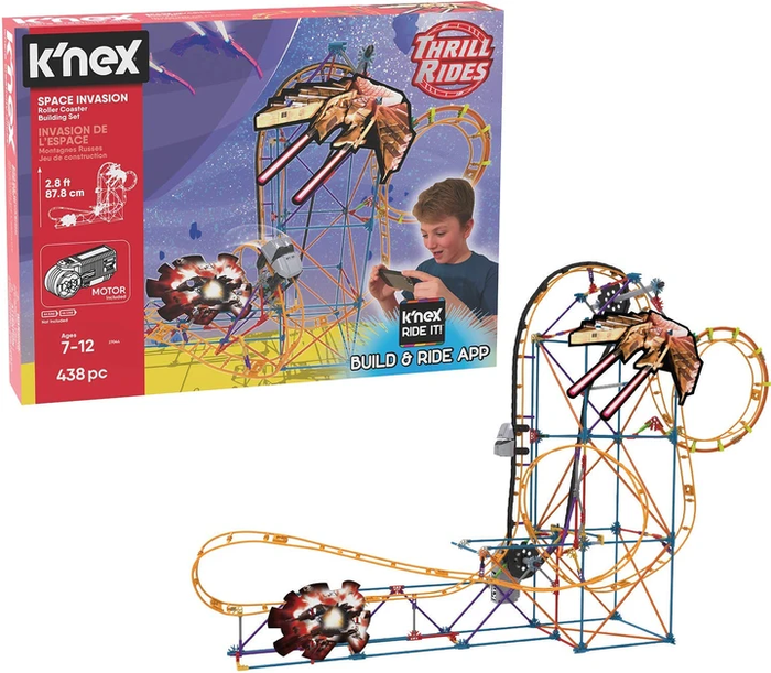Knex Thrill Rides Space Invasion Roller Coaster Building Set Toy Vs