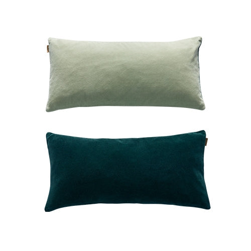 Lia Cushion, Fog Green-Trekking Green