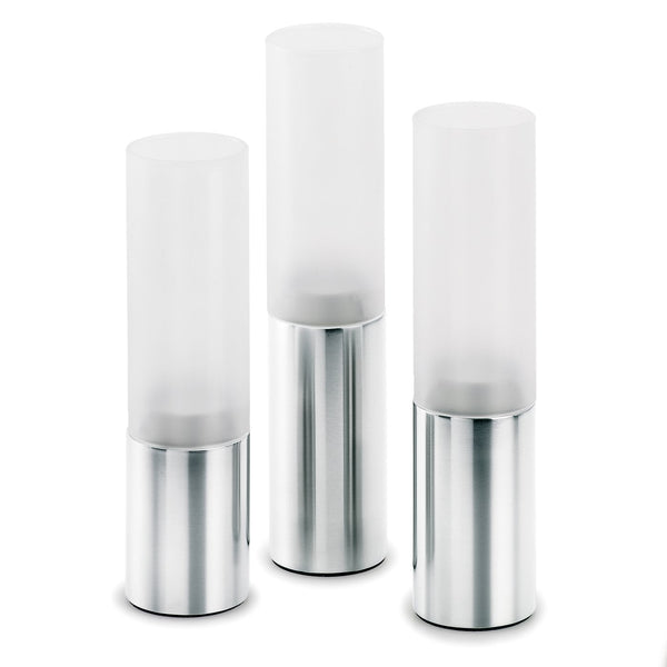 Faro 3pcs. Tealight Holder, Matt - Stainless Steel