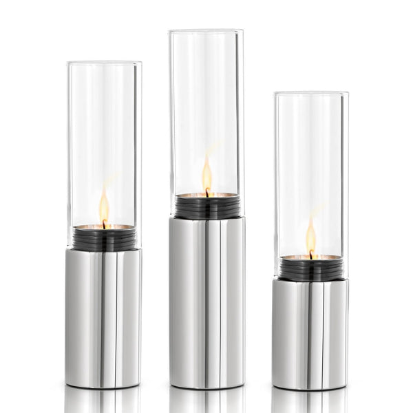 Faro 3pcs. Tealight Holder, Polished - Stainless Steel