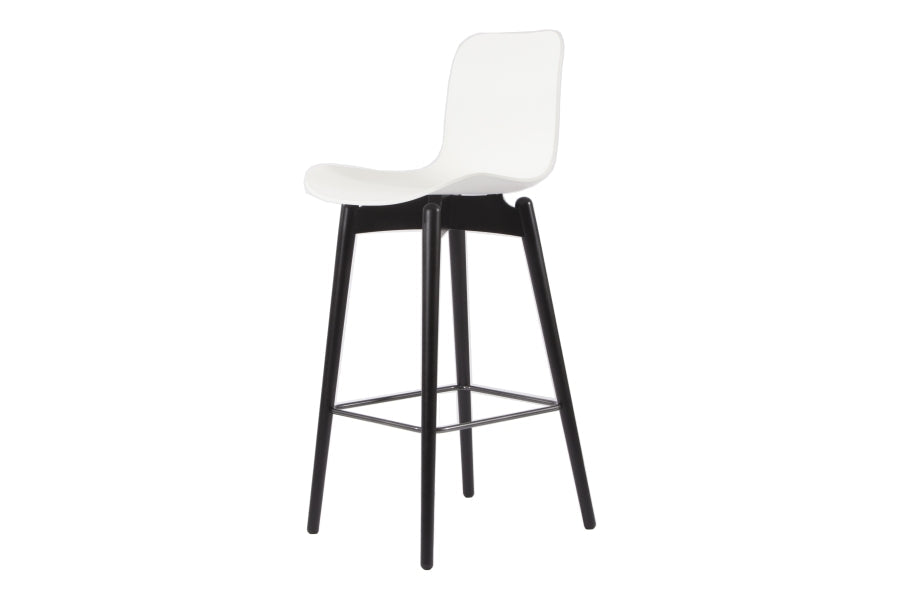 Langue Bar Chair 65 cm, Black Legs