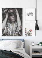 Flowers In My Hair Poster