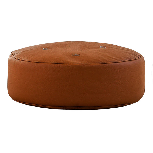 Full Moon Leather Pouf
