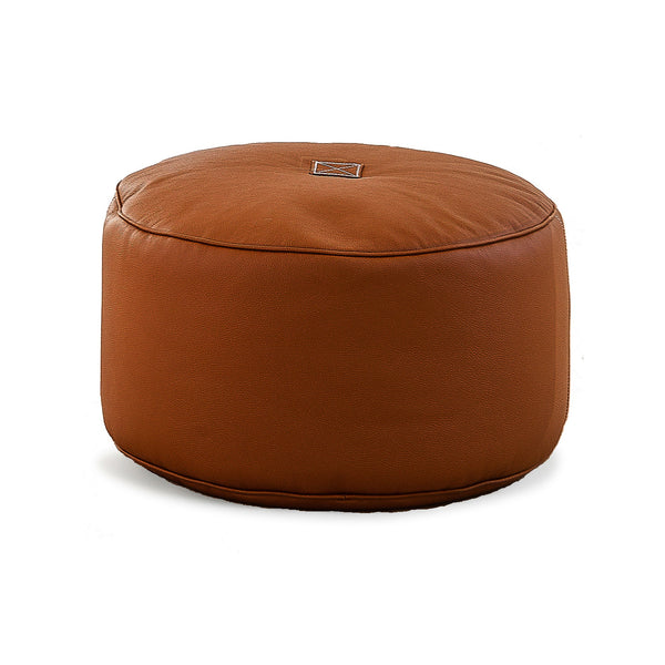 Tiny Moon Leather Pouf