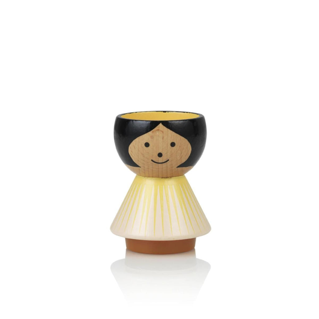Girl Egg Holder, Yellow Sunrise