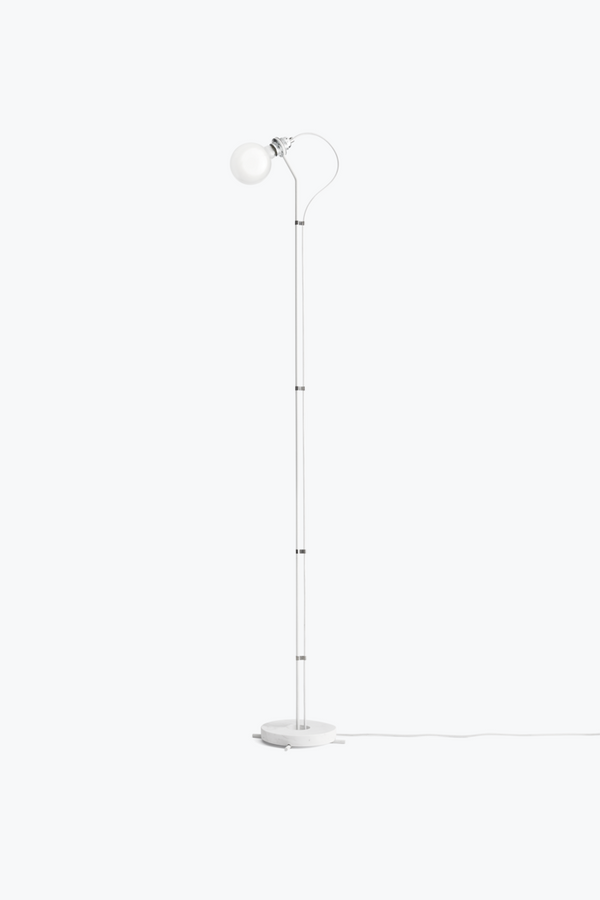 Five Floor Lamp, White Marble