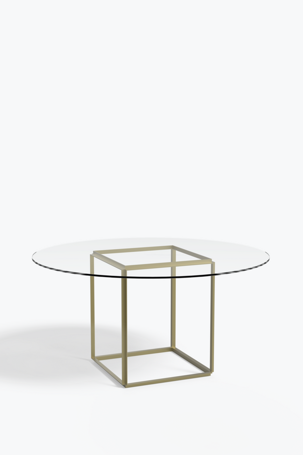 Florence Dining Table Ø145, Clear Glass