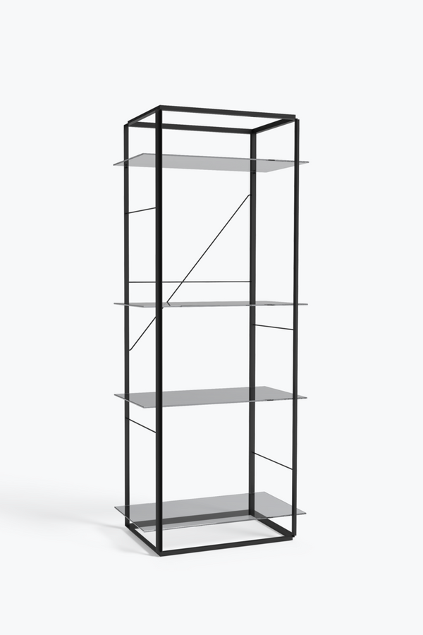 Florence Shelf Large, Black - Iron