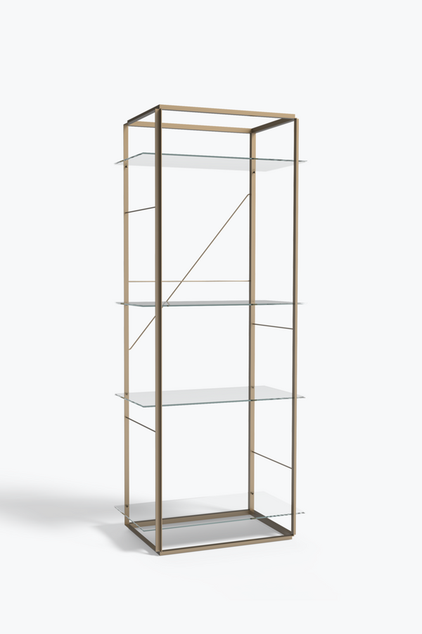 Florence Shelf Large, Gold - Iron