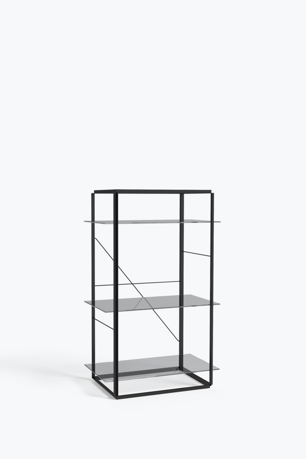 Florence Shelf Medium, Black - Iron