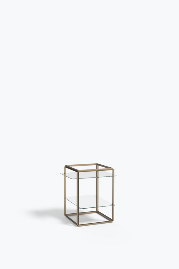 Florence Side Table, Raw Gold Frame