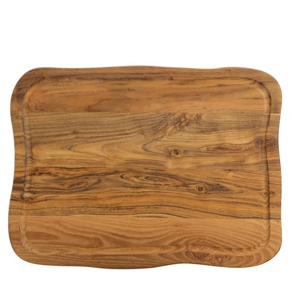 Raw Cuttingboard w-Juice Groove - Teakwood