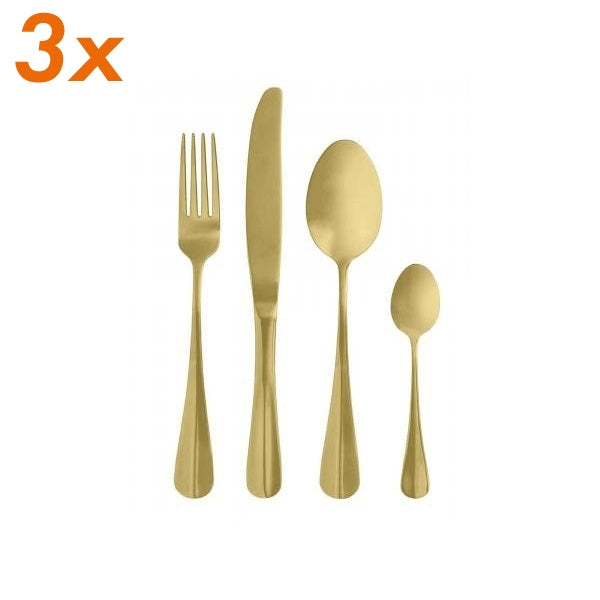 Gold Cutlery - Set of 12