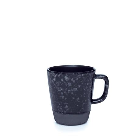 Raw Mug w-handle 30cl, Black - Set of 6