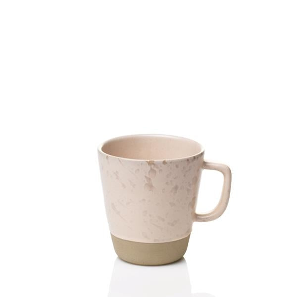 Raw Mug w-handle 30cl, Nude - Set of 6