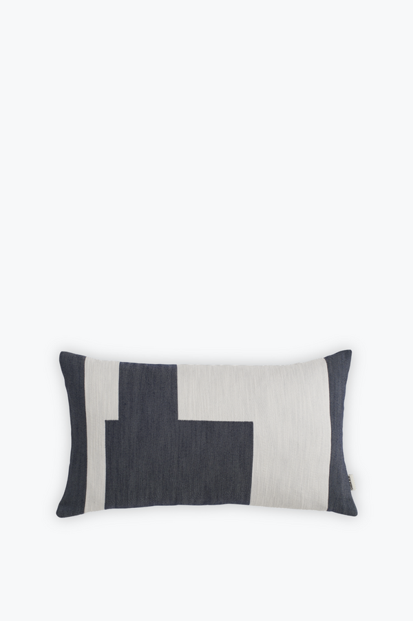 Graphic Cushion Small, Marine Blue