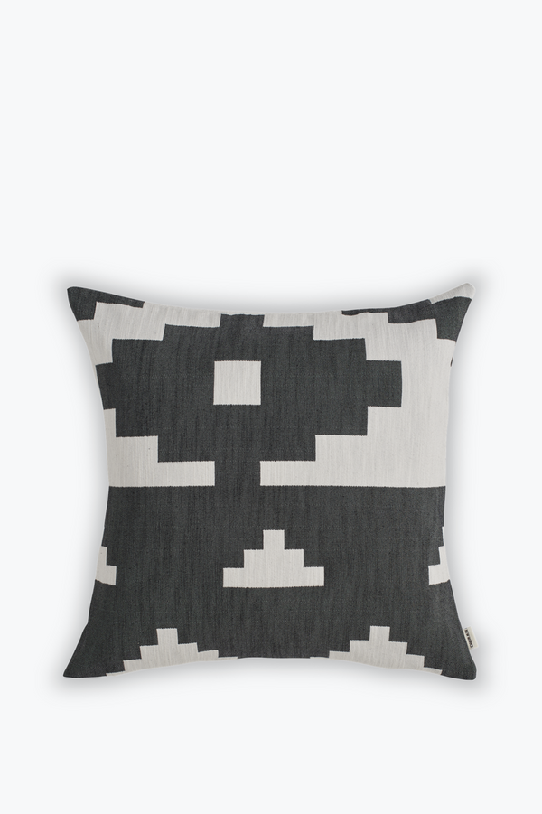 Ikat Cushion Large, Black